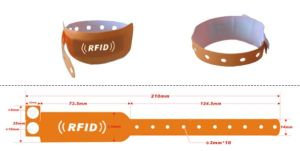 Eco-Friendly RFID Silicone Wrist Band pictures & photos