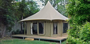 European Holiday Tent Living Wooden House Tent for Honeymoon pictures & photos
