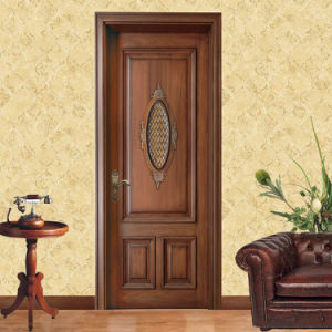 Antique Style Solid Carving Wooden Single Door (GSP2-079) pictures & photos