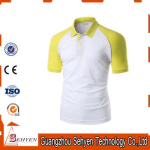 Brand Logo Stylish Sports Yellow and White Cotton Polo Tshirt pictures & photos