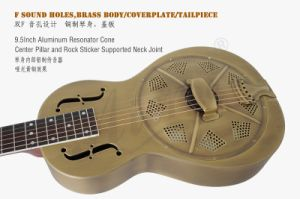 Wholesale Price Vintage Bell Metal Body Parlour Resophonic Guitar pictures & photos