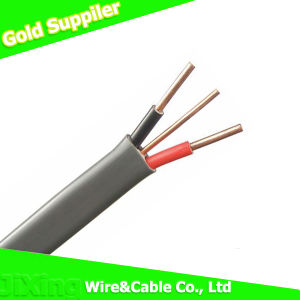 Three Core PVC Insulated Flat BVVB Copper Wire Cable pictures & photos