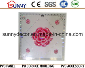 China Cheap Price 595*595mm Light Weight Building Materials PVC Ceiling Wall Panels PVC Ceiling Tiles pictures & photos