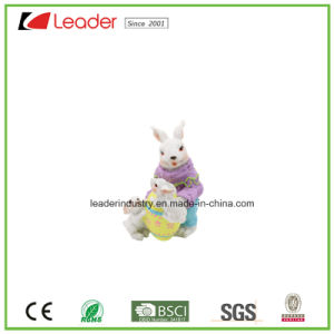 Eco-Friendly Polyresin Craft Gifts Rabbit Statue for Home Decoration and Easter Gifts pictures & photos