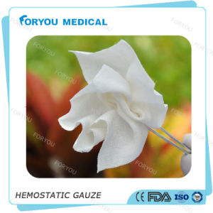 Foryou Medical Surgical Blood Absorbent Pad Soluble Hemostatic Gauze Blood Stop CMC Gauze Pads War Wound Dressing pictures & photos