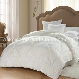 European Size Down-Like 350G/M Siliconized Fiber Comforter Set pictures & photos