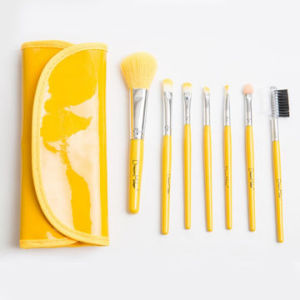 Mini Cosmetic Brush Set Lemon Color with Bag pictures & photos