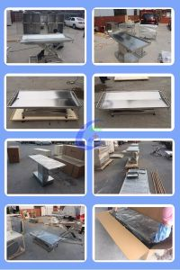 Stainless Steel Vet Operating Table pictures & photos