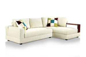 Modern Corner Fabric Sofa Bed pictures & photos