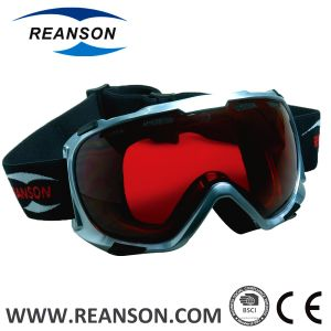 Reanson Professional Anti-Fog Double Spherical Lenses Skiing Goggles pictures & photos