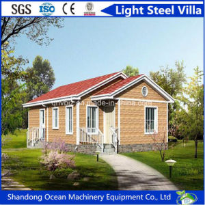 Economical Budget Luxury Strong Prefabricated Light Steel Villa with Good Heat Insulation Materials pictures & photos