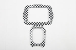 Auto Accessory ABS Material Checkered Style Central Trim for Renegade Model (1PC/SET)