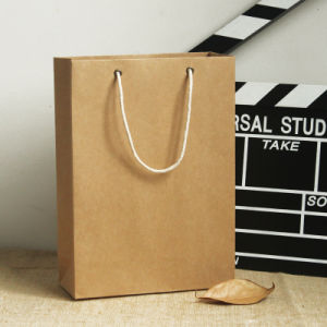 China Flat Bottom Kraft Paper Bag with Good Price pictures & photos