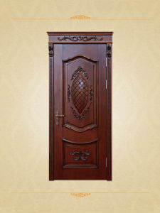 Antique Style Unique Wooden Carved Room Door pictures & photos