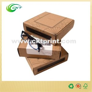 Brown Cardboard Folding Glasses Kraft Paper Package Box (CKT-CB-77) pictures & photos