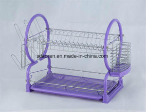 Dish Drainer 2 Tier Colorful Powder Coating Dish Drainer pictures & photos