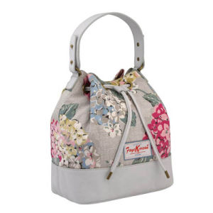Vintage Style Canvas Leather Bucket Shoulder Bag (99221) pictures & photos