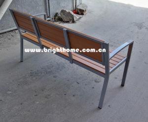 Outdoor Garden Double Chair Aluminum Plastic Wood pictures & photos
