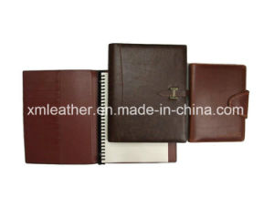 Leather Custom Style Spiral Notebook Office Diary pictures & photos