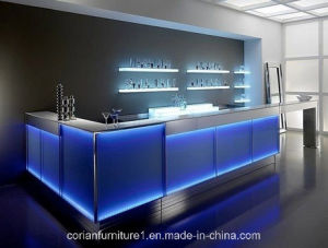 Stylish Corian LED Bar Counter for Clubhouse pictures & photos
