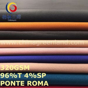 Polyester Spandex Ponte Roma Knitted Fabric for Garments (GLLML480) pictures & photos