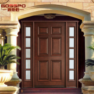Exterior Front Entry Double Wood House Door with Lites (GSP1-036) pictures & photos