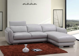 European Modern L Shape Corner Leather Sofa Set (Sectional sofa) pictures & photos