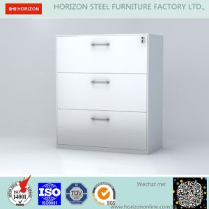 Metal Lateral Filing Cabinet with 3 Drawers pictures & photos