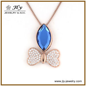 Wholesale Zinc Alloy Gold Plating Bowknot Shape Glass Stones Fashion Jewelry Pendant pictures & photos