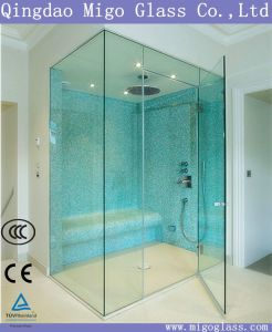 Toughened Shower Door Glass, Clear Transparent Tempered Float Glass for Shower Enclosures pictures & photos