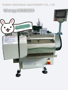 Full Automatic Paper Hang Tag Threader Machine (professional for eyelet tag) pictures & photos