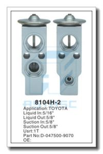 Customized Thermal Aluminum Expansion Valve for Auto Refrigeration MD8104h-1 pictures & photos