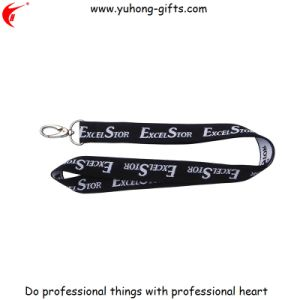 Black Woven Lanyard for Promotion (YH-L1208) pictures & photos