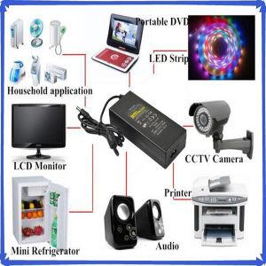 Plastic Desktop 12V 8A AC/DC Power Adapter pictures & photos