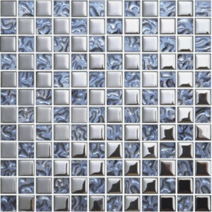 Silver Crystal Glass Mosaic for Floor Tile pictures & photos