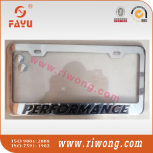 Debossed with Colorfill Us Size Car License Plate Frame pictures & photos