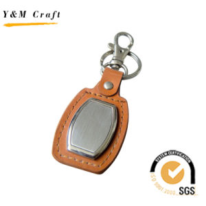 Promotional Gift Customized Metal Blank Key Chain with Rubber (Y02205) pictures & photos