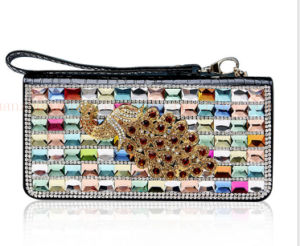 OEM High Quality Elegant Crystal Leather Purse Wallet pictures & photos