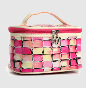 China Wholesale Custom Logo Colorful Check Makeup Bag Set Cosmetic Bag Women pictures & photos