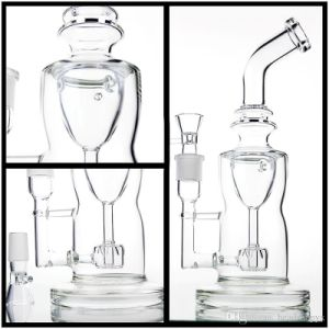 Glass pipe Glass Water Pipes Oil Rigs Double Recycler Birdcage Perc 26mm Joint Very Thick Glass pictures & photos