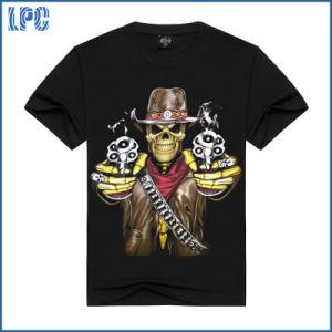 Black Cotton 3D Printing Men T Shirt pictures & photos