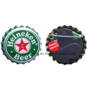 Custom LED Beer Bottle Cap Flashing Light Button (3569) pictures & photos