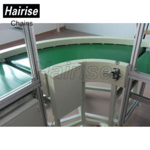 Food Grade 90 Degrees Turn PVC Green Belt Conveyor pictures & photos