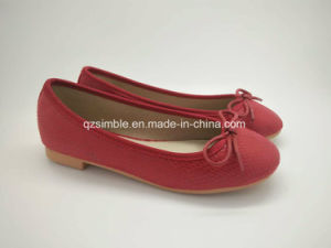 Wholesale Factory Girls Dance Shoes with Snack PU Upper pictures & photos