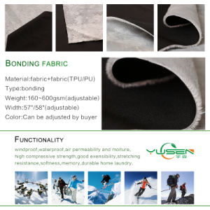 Hi Vis Protective Bonded Fleece Fabric for Jacket pictures & photos