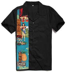 New Pattern Black Hawaiian Shirts Cotton Custom Mens Clothes pictures & photos