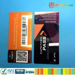 Fiber laser printing various QR Barcode snap off Cards for loyalty system pictures & photos