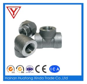 High Pressure Socket Weld Carbon Steel Pipe Fittings Tee pictures & photos