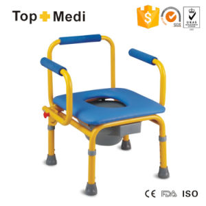 Hot Sale Stainless Steel Soft Seat Children Commode Chair Tcm813 (S) pictures & photos