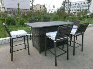 Outdoor Wicker Bar Stool Set pictures & photos